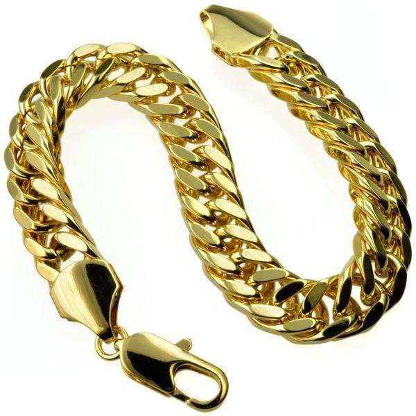 gold bracelet, gold, 18 k, manbracelet