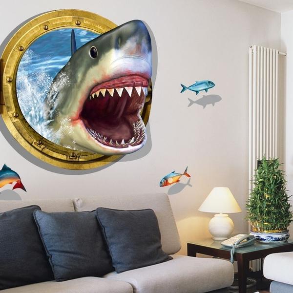 kidsroomdecal, Shark, art, Home Decor