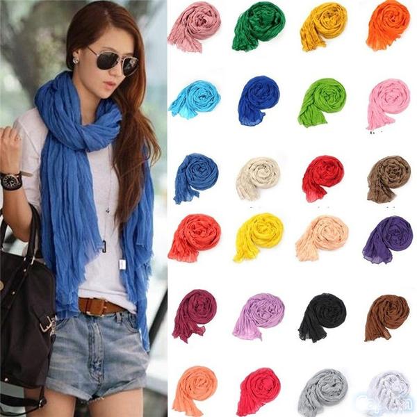 scarvesampwrap, Fashion, candy color, chiffon