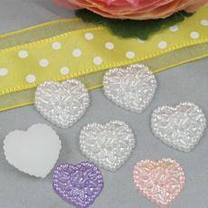 Heart, Embellishments, Flowers, pearlheartshapeembellishment