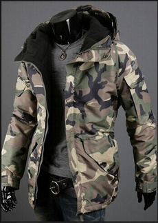 hooded, Winter, Cotton-padded clothes, Men