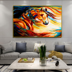 Home & Kitchen, Decor, horseoilpainting, canvaspainting