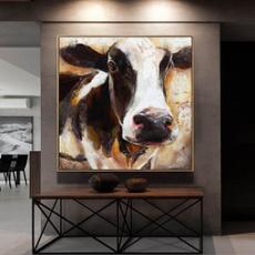 art, Home Decor, Modern, abstractcowpainting