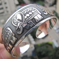Jewelry, Gifts, Bracelet, tibetsilvertotembangle
