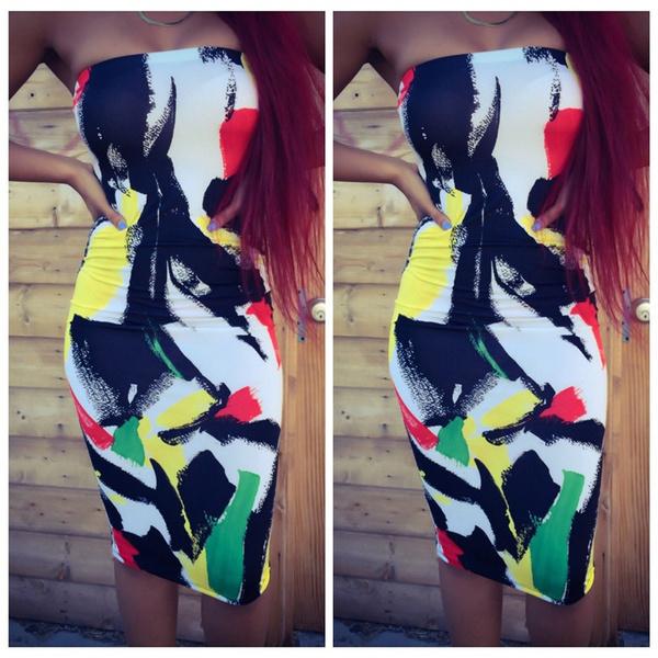 strapless, clubwear, Evening Dress, Dress