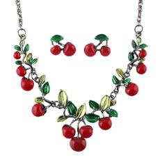 Moda, cherrypendantnecklace, Cheap Jewelry, loverjewelry