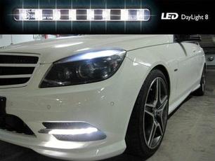 led, Mercedes, Driving, lights