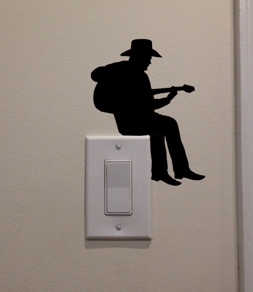 art, lightswitchdecal, Stickers, Guitars