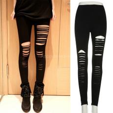 Leggings, pants, slim, ripped