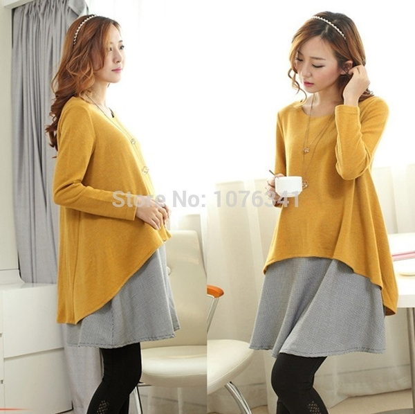 Maternity Dress Autumn Winter Maternity Clothes Large Size Loose Casual Dresses For Pregnant Wish