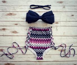 Fashion, Floral print, high waist, Push-Up