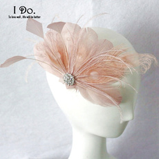 featherfascinator, champagne, weddinghatsandfascinator, partyheadwear