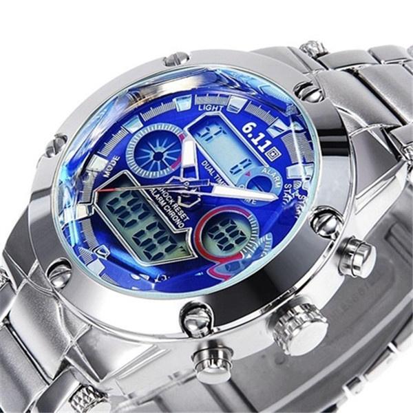 LED Watch, quartz, led, Waterproof Watch