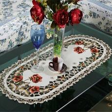 Decoración, embroideredflowertablerunner, Hogar y estilo de vida, floraltablerunner