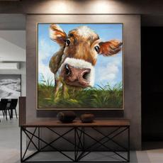 Home & Kitchen, Decor, art, cow