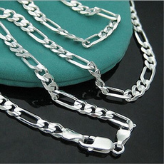 Sterling, figarochainnecklace, Fashion, Jewelry
