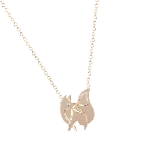 foxpendantnecklace, Fashion, linkchainnecklace, 14kgoldplatedring