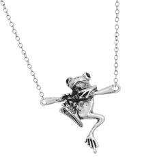 Personalized necklace, babyfrogpendant, Jewelry, Animal