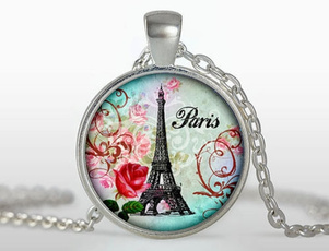 Jewelry, Chain, Glass, Necklaces Pendants
