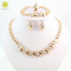 goldplated, Jewelry, gold, crystaljewelryset