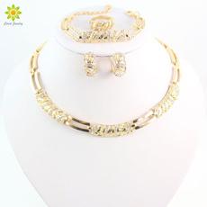 Fashion, gold, crystaljewelryset, jewelrysetsforgirl