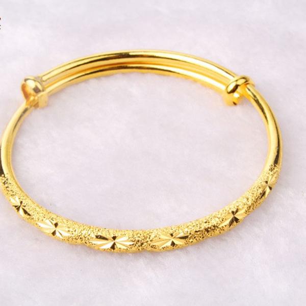 yellow gold, Jewelry, Gifts, solidbangle