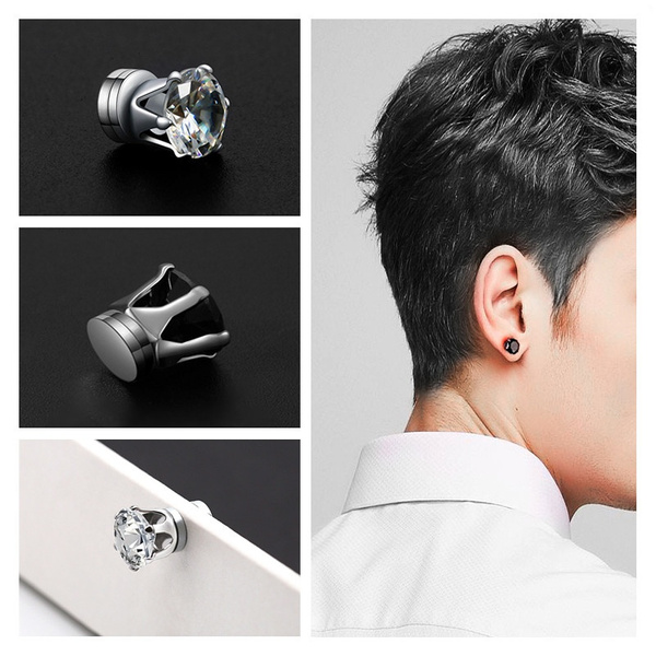 diamondsearring, Fashion Accessory, magnetmagneticearring, earclipearring