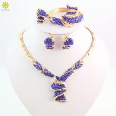 goldplated, Fashion, gold, crystaljewelryset