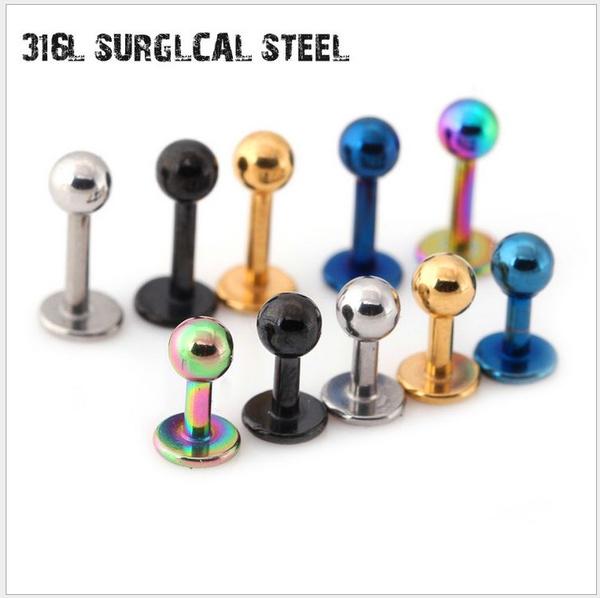 Steel, men & women accessories, earbonepiercingbar, Jewelry