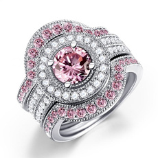 pink, Sterling, Silver Jewelry, 925 sterling silver