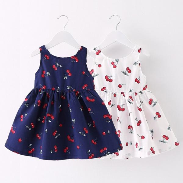 Cotton, Princess, Cherry, Dress