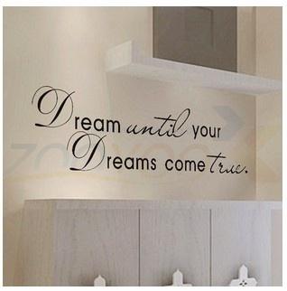 dreamuntilyourdreamscometruesticker, wallartsticker, Wall Design Stickers, wallstickersforkidsroom