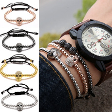 Charm Bracelet, Head, Fashion, skullcharm