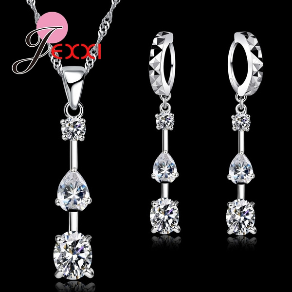 Sterling, Cubic Zirconia, Set, Jewelry