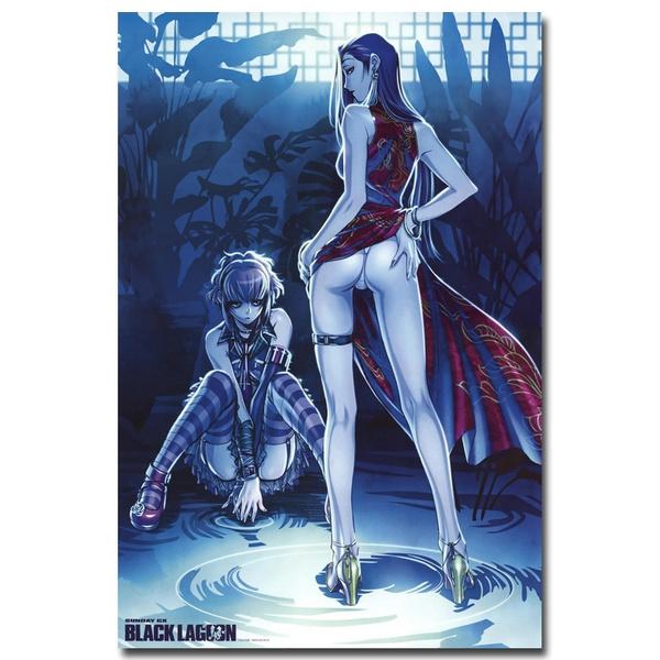 Black Lagoon Anime Art Silk Canvas Poster Print 13x20 24x36 inch