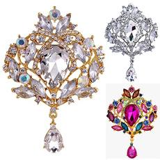 fashionbrooch, europestyle, luxurybroochpin, Crystal