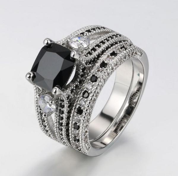 blackgoldring, Engagement, Jewelry, Blue Sapphire