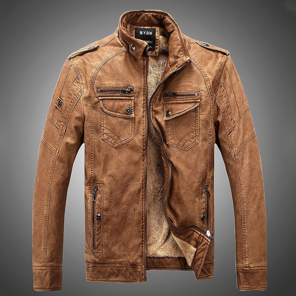 Thicken, leatherjacketformen, winter coat, Coat