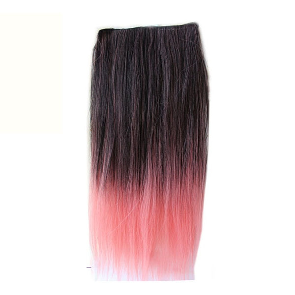 Fashion, clipin, Colorful, gradientombrehairpiece