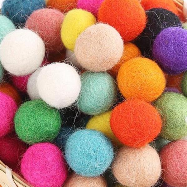 multicolorsflockingball, feltwoolball, Jewelry, jewelrybeadsandcharm