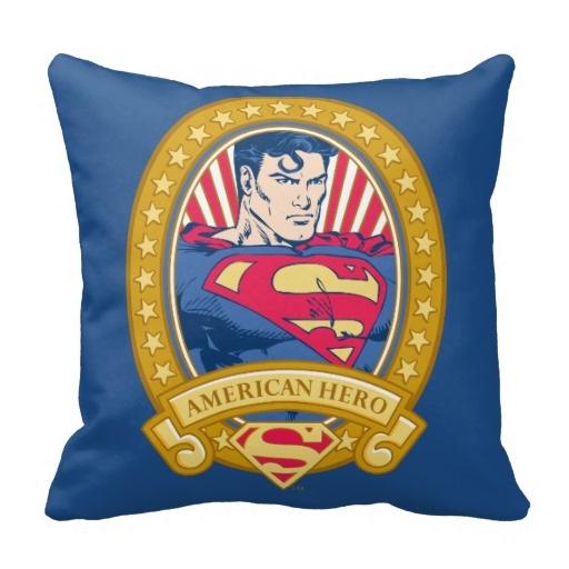 cottoncushioncover, linencushioncover, Superman, squarecushioncover