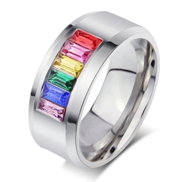 Steel, rainbow, titanium steel, polished