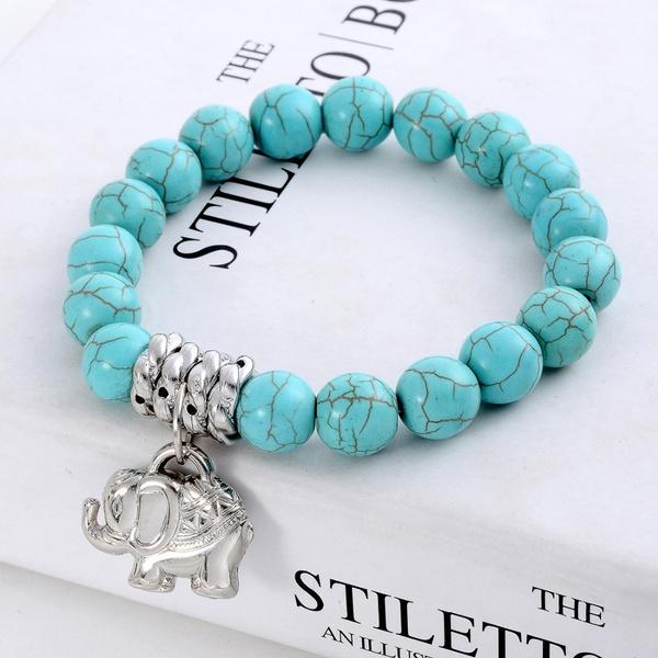 Turquoise, Jewelry, Elastic, tibet