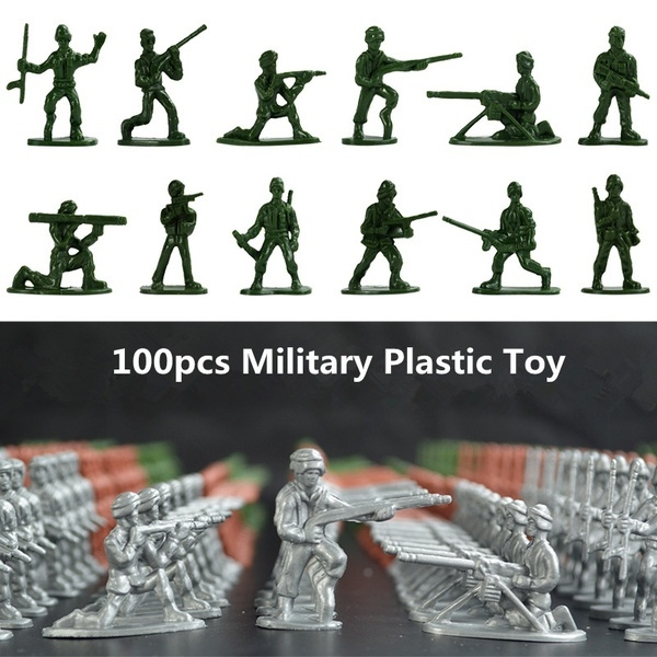 100x Military Toy Soldiers Army Figures 12 Poses Model Action Figure Toys