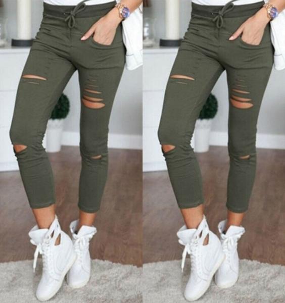 distressedlegging, trousers, holedenimjean, pants