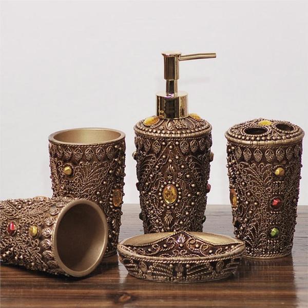 5pcs Ultimate Morocco Bathroom, Moroccan Bathroom Accessories