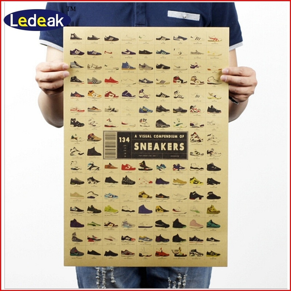 Sneakers, Fashion, advertisingposter, Vintage