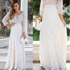 lacelayeredskirt, Summer, long skirt, Fashion