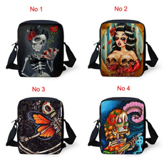 women's shoulder bags, Mini, skull, vintage bag