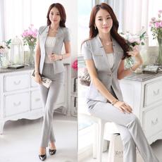 Summer, ladiesblazerbusinesssuitjacket, women pants suit, Office